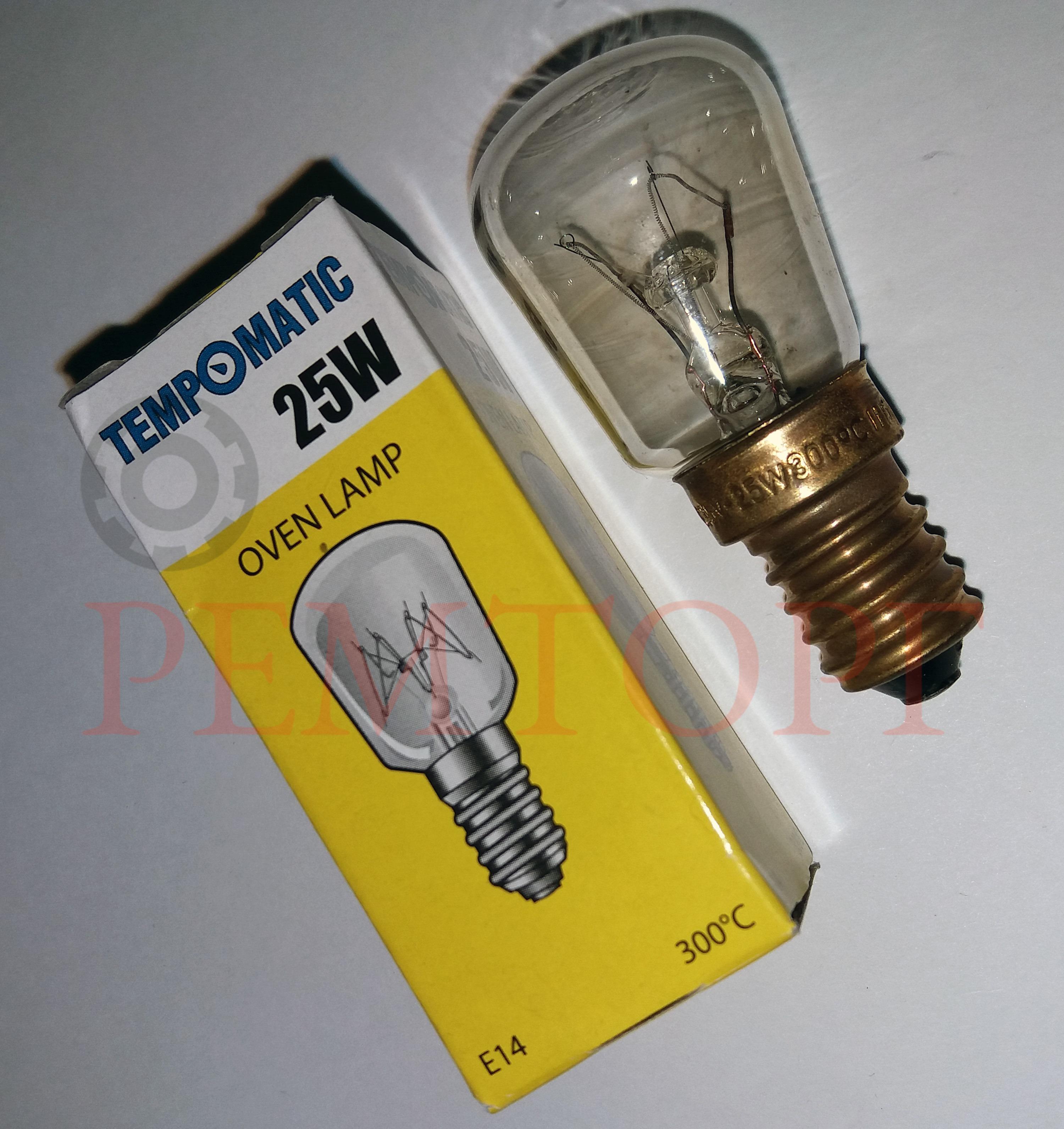 Лампочка термостойкая E14 25Вт 230В