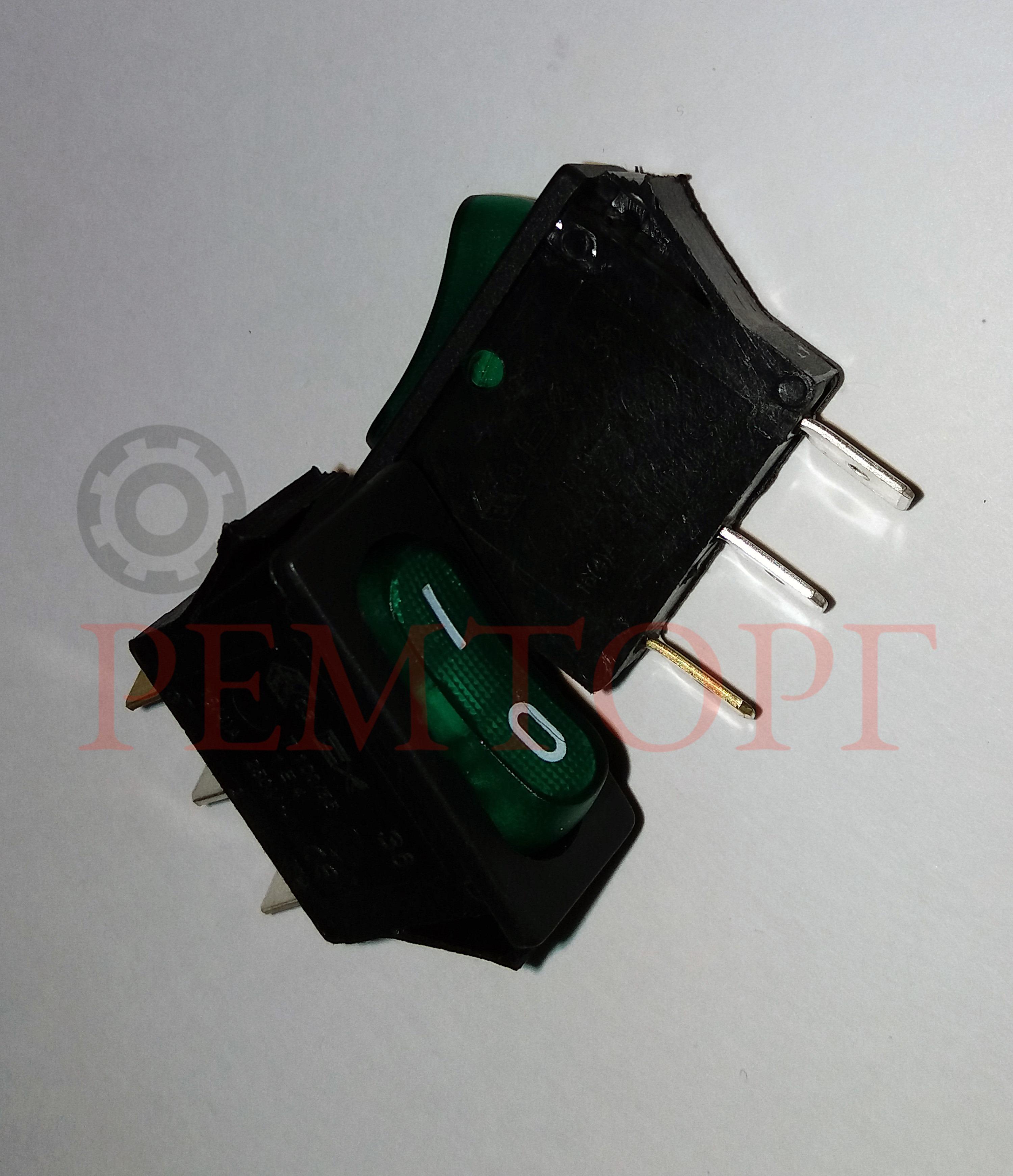 Зеленый однополюсный выключатель 16А 250В